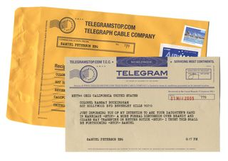 TelegramStop-DeliveredTelegram&Envelope